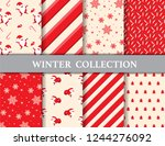merry christmas and winter... | Shutterstock .eps vector #1244276092