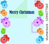 christmas balls  new year... | Shutterstock .eps vector #1244277565