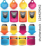 web element collection | Shutterstock .eps vector #124429042