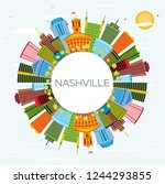 nashville tennessee city... | Shutterstock .eps vector #1244293855