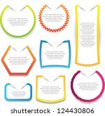 collection of label and... | Shutterstock .eps vector #124430806