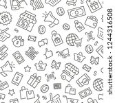 seamless pattern with shopping. ...   Shutterstock .eps vector #1244316508