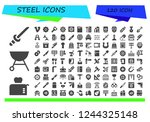 vector icons pack of 120 filled ...   Shutterstock .eps vector #1244325148