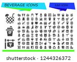 vector icons pack of 120 filled ... | Shutterstock .eps vector #1244326372