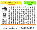 vector icons pack of 120 filled ... | Shutterstock .eps vector #1244326435