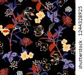 blooming and gentle vector... | Shutterstock .eps vector #1244328925