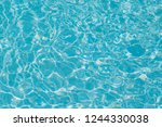 blue water ripple reflection in ... | Shutterstock . vector #1244330038