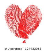 fingerprint heart | Shutterstock . vector #124433068