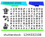 vector icons pack of 120 filled ...   Shutterstock .eps vector #1244332108