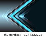 abstract blue arrow light power ...   Shutterstock .eps vector #1244332228