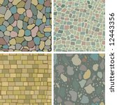 Four Seamless Masonry Patterns