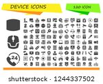 vector icons pack of 120 filled ... | Shutterstock .eps vector #1244337502