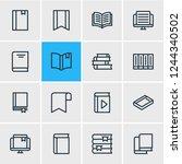 vector illustration of 16 book... | Shutterstock .eps vector #1244340502