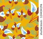 floral   seamless pattern | Shutterstock .eps vector #124434196