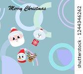 christmas card  santa snowman... | Shutterstock .eps vector #1244346262