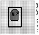 pixel art graveyard | Shutterstock .eps vector #1244352442