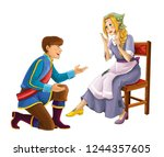 cartoon fairy tale characters   ... | Shutterstock . vector #1244357605
