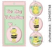 be my valentine. st. valentine...   Shutterstock .eps vector #124435768