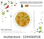 sri lankan cuisine. asian... | Shutterstock .eps vector #1244360518