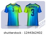 t shirt sport design template ... | Shutterstock .eps vector #1244362402