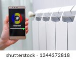 house heating with central... | Shutterstock . vector #1244372818