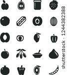 solid black vector icon set  ...   Shutterstock .eps vector #1244382388