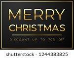 christmas sale on black...   Shutterstock .eps vector #1244383825