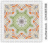 decorative colorful ornament on ... | Shutterstock .eps vector #1244385388