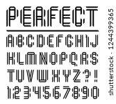 modern font  paper letters...   Shutterstock .eps vector #1244399365