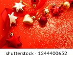 christmas holidays composition... | Shutterstock . vector #1244400652