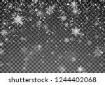 snowfall template. christmas... | Shutterstock .eps vector #1244402068