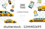flat taxi colorful template | Shutterstock .eps vector #1244402695
