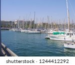 port in alicante with a lot of... | Shutterstock . vector #1244412292