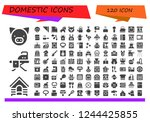 vector icons pack of 120 filled ...   Shutterstock .eps vector #1244425855