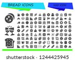 vector icons pack of 120 filled ...   Shutterstock .eps vector #1244425945