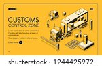 customs control zone online... | Shutterstock .eps vector #1244425972