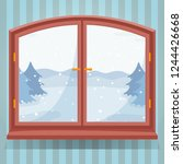 snow winter outdoor view in... | Shutterstock .eps vector #1244426668