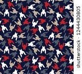 seamless  hounds tooth pattern | Shutterstock .eps vector #1244430805
