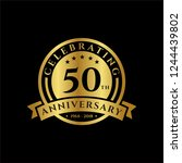 50 th anniversary celebrations... | Shutterstock .eps vector #1244439802