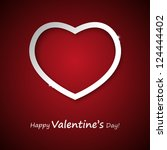 valentine card with place for... | Shutterstock .eps vector #124444402