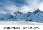 panorama of the alpine... | Shutterstock . vector #1244453092