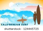 on the image the ocean coast... | Shutterstock . vector #124445725