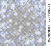 festive blue  indigo luminous... | Shutterstock .eps vector #1244458795
