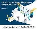 template design article banner  ... | Shutterstock .eps vector #1244458825