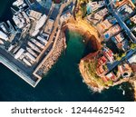 aerial view directly from above ...   Shutterstock . vector #1244462542