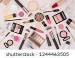 makeup cosmetics such as... | Shutterstock . vector #1244463505