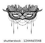 carnival mask for invitation... | Shutterstock .eps vector #1244465548