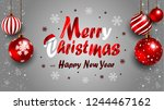 beautiful christmas banner with ... | Shutterstock .eps vector #1244467162