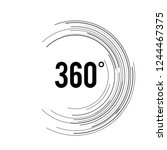 angle 360 degrees sign icon.... | Shutterstock .eps vector #1244467375