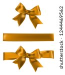 decorative gold bow with... | Shutterstock .eps vector #1244469562